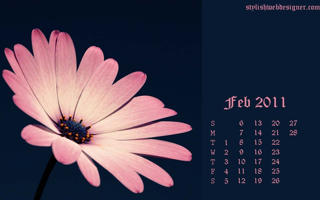 february 2011 wallpaper calendar. Desktop Wallpaper Calendar