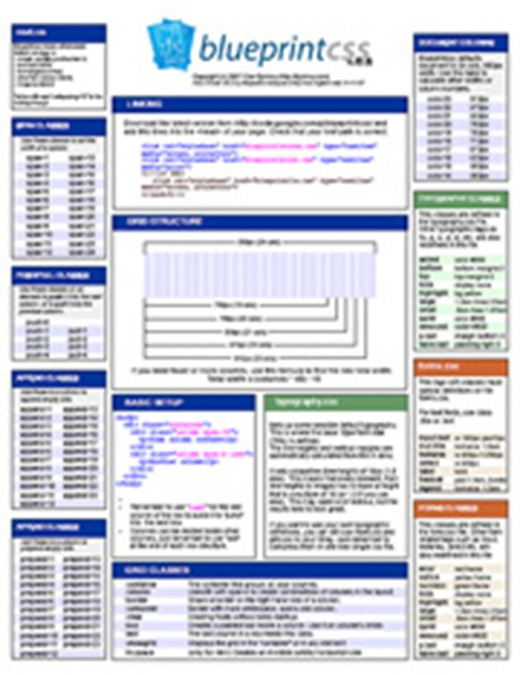 10 most valuable css cheat sheets for web designers blueprint css cheat sheet malvernweather Images