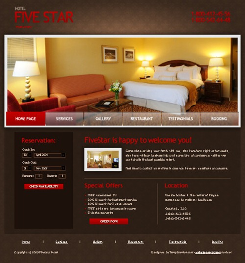 Best Free Hotel And Travel Website Templates
