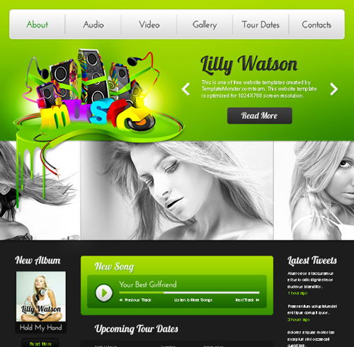 Top 10 Free CSS And HTML Web Templates Of April 2011