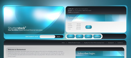 blue web designs