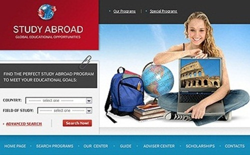 Study Abroad Best Free Psd Website Templates