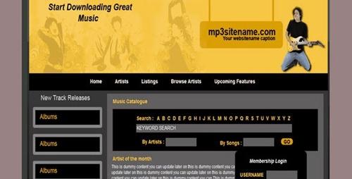Free Dreamweaver Template Downloads from stylishwebdesigner.com