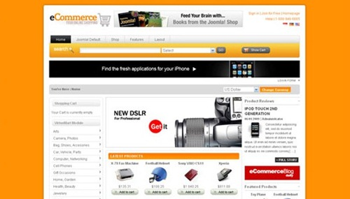A Collection Of Best Joomla E-Commerce Templates