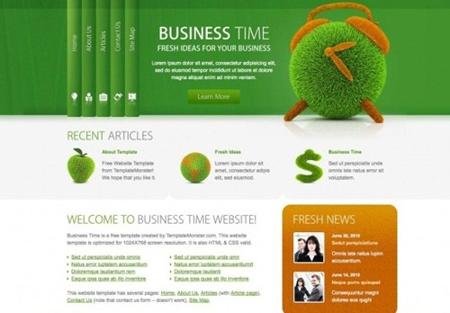 Best Free HTML And CSS Templates OF 2011