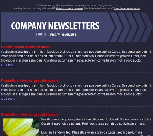 free email template