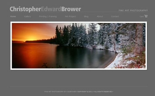 photography websites with minimal design