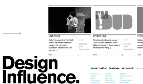 horizontal layout websites