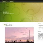 Free Website Template : Bubbles