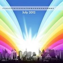 Desktop Wallpaper Calendar : July 2012