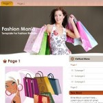 Free Website Template–Fashion Mania