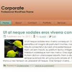 Free WordPress Theme -  Corporate