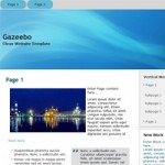 Free Website Template : Gazeebo