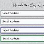 Free PSD File - Newsletter Form