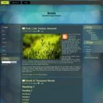 Bokeh : Free Blogger Template