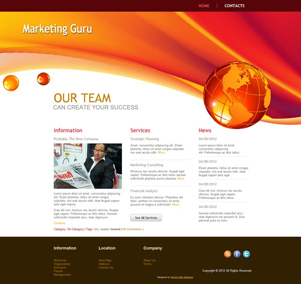 marketing company website template