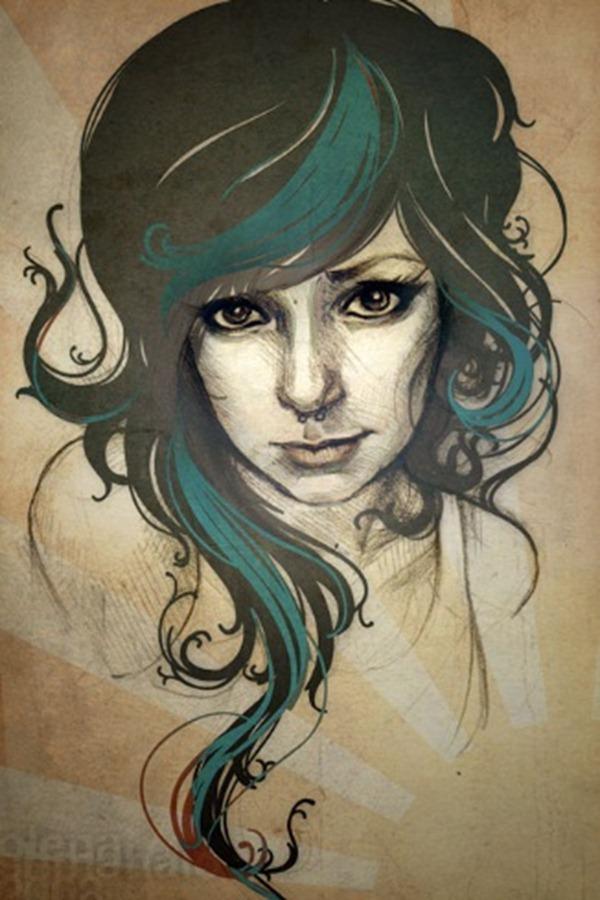 digital drawing portraits