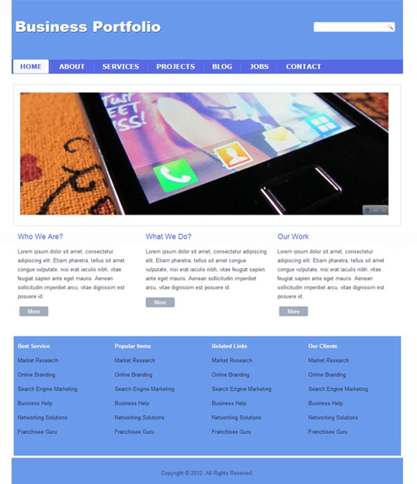 10 Useful Free Website Templates from 2012