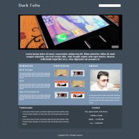 Dark Folio : Single Page Responsive Portfolio Website Template