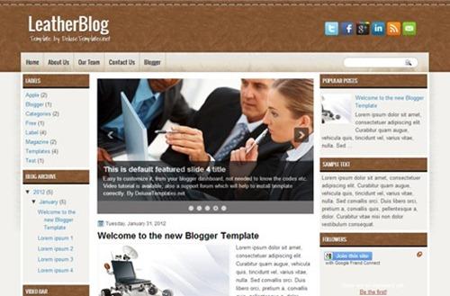 ücretsiz blogger şablonları
