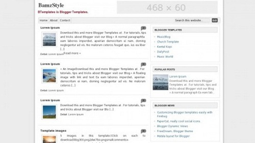 40 best free minimal blogger templates