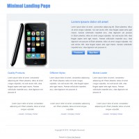 Minimal Landing Page : Free Responsive Website Template
