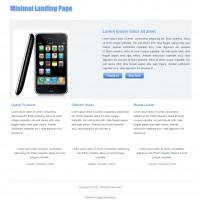 Minimal Landing Page : Free Responsive Website Template