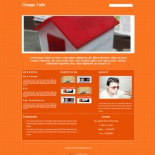 Orange Folio : Single Page Responsive Portfolio Website Template
