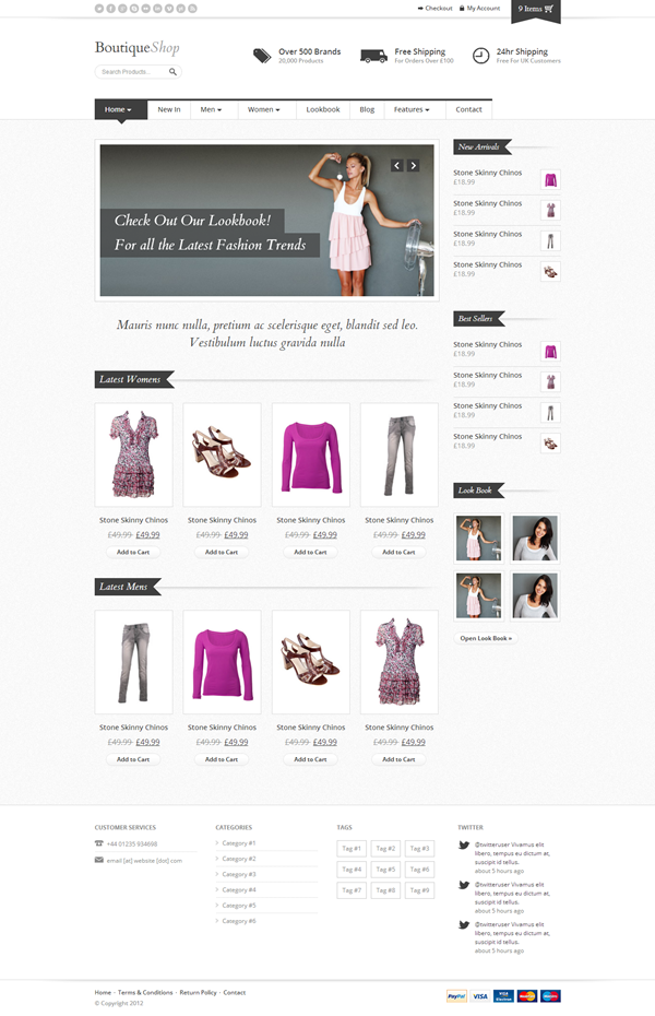 10 Outstanding Ecommerce Website Templates