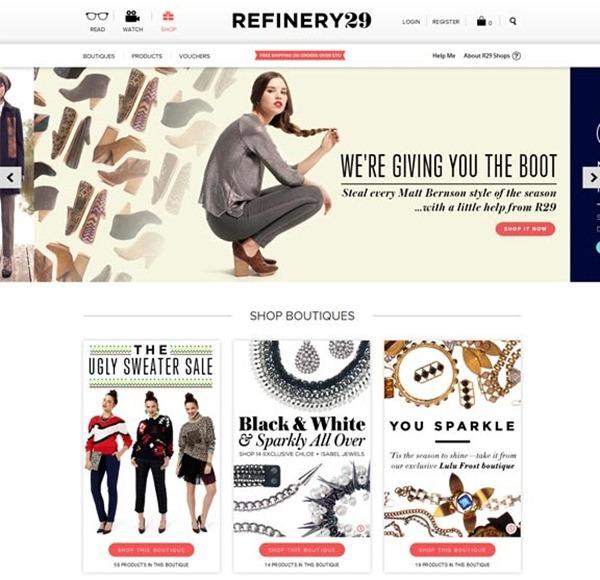 sites de comércio eletrônico