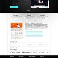 Free PSD Website Template : Aastha
