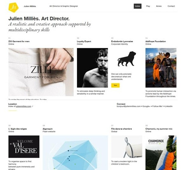 minimal website designs