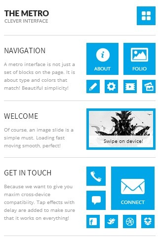 retina ready mobile website templates