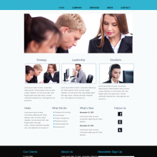 Free Responsive Website Template : Marketing Guru