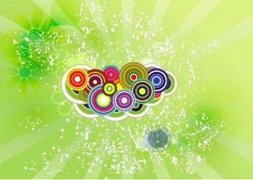 green swirly flowers vectors