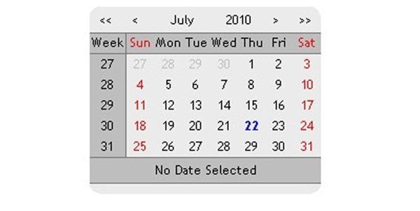 js calendar
