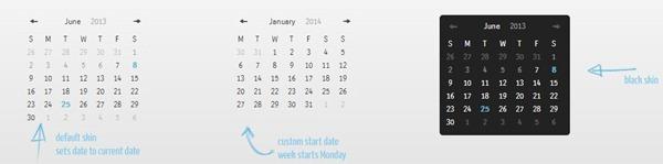 mini events calendar