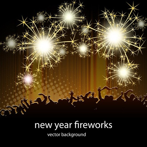 new year fireworks vectors