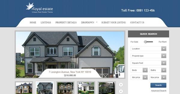 40 website templates for real estate websites real estate website template pronofoot35fo Image collections