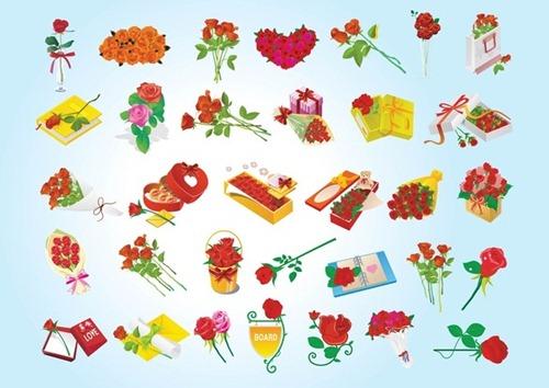 valentine gifts vectors