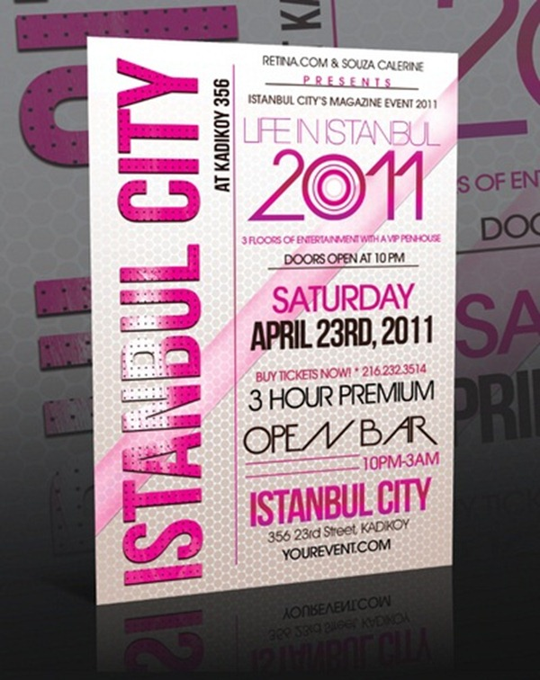 template for event flyer