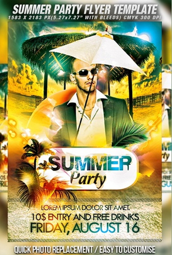 free summer flyer template