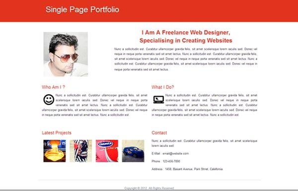 Red-Single-Page-Portfolio