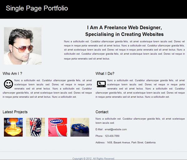 Single-Page-Portfolio