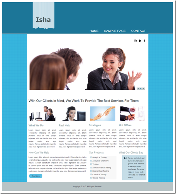isha-website-template