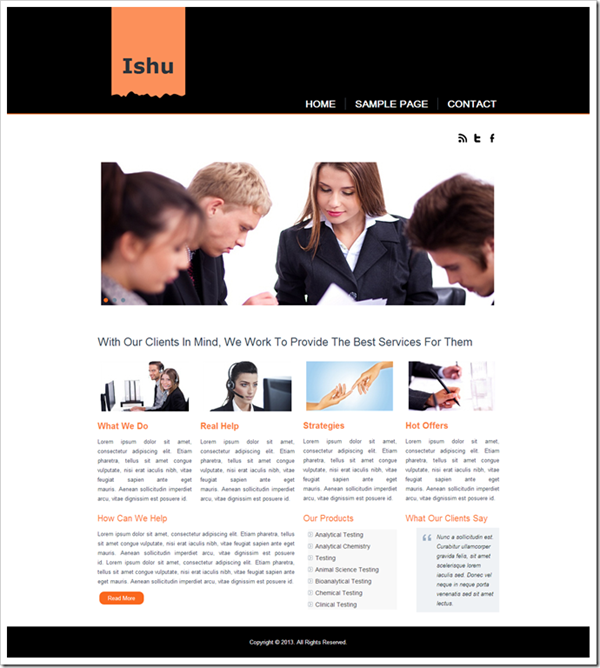 ishu-website-template