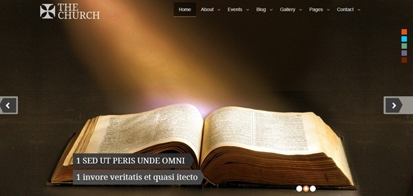 Best Website Templates For Church Websites - Church website templates