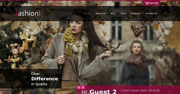 10 best fashion website templates fashion website template pronofoot35fo Choice Image