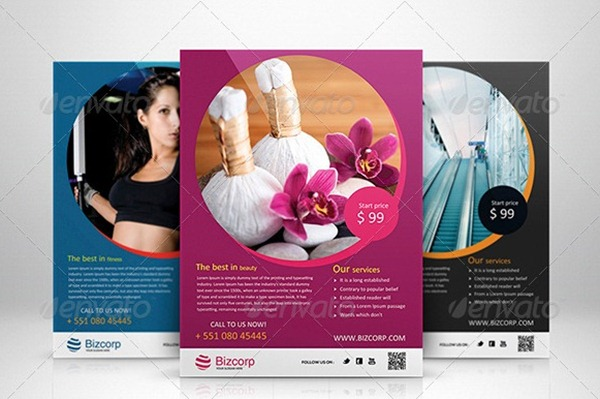 30 Professional Corporate Flyer Templates – Beauty Salon Flyer Template