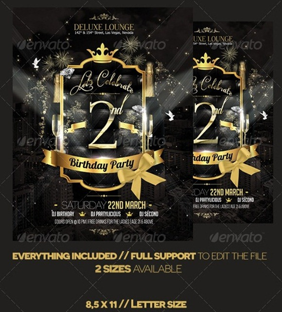 20 Professional Event Flyer Templates – Birthday Flyer Templates Free